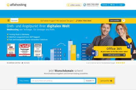 Webseite von Alfahosting