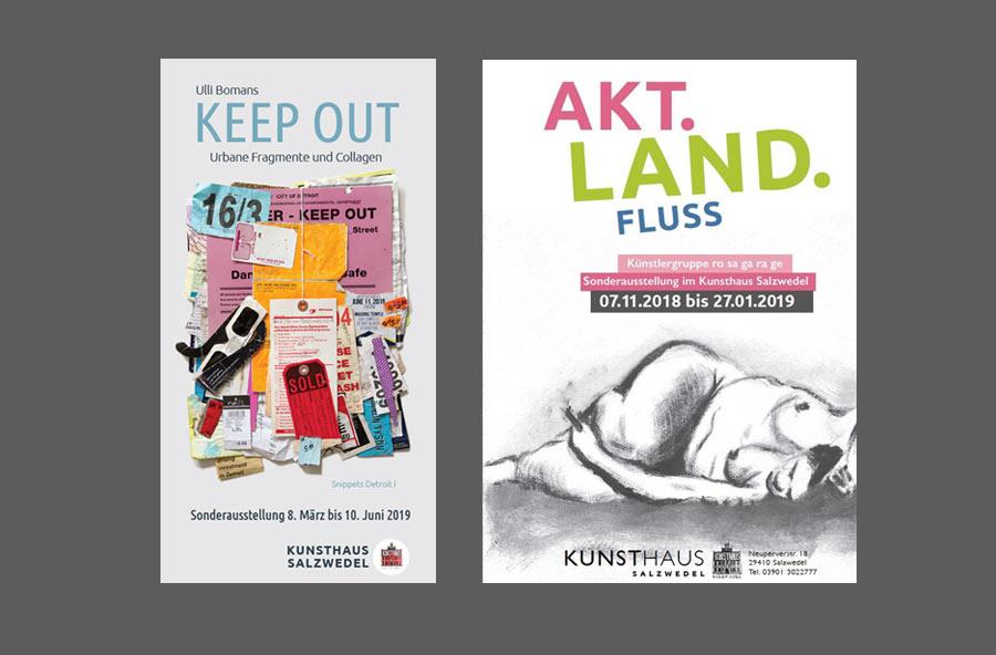 Lektorat für das Kunsthaus Salzwedel: Plakate von Sonderausstellungen